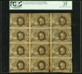 Fractional Currency:Second Issue, Fr. 1233 5¢ Second Issue Uncut Block of Twelve PCGS Very Fine 25.. ...