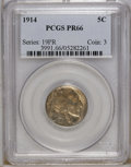 Proof Buffalo Nickels: , 1914 5C PR66 PCGS. PCGS Population (102/66). NGC Census: (113/69).Mintage: 1,275. Numismedia Wsl. Price: $2,100. (#3991)...