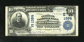 National Bank Notes:Maryland, Baltimore, MD - $10 1902 Plain Back Fr. 624 The Citizens NB Ch. #(E)1384. Purple stamped signatures of Joseph Oberle an...