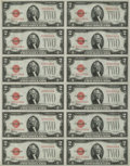 Fr. 1506 $2 1928E Legal Tender Notes. Uncut Sheet of 12. Choice Crisp Uncirculated. Embossing is strong on this uncut sh...