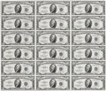 Small Size:Silver Certificates, Fr. 1706 $10 1953 Silver Certificates. Uncut Sheet of 18. Choice Crisp Uncirculated. This is a delightful sheet that is not ...