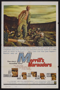 "Movie Posters:War, Merrill's Marauders (Warner Brothers, 1962). One Sheet (27"" X 41"").War. Starring Jeff Chandler, Ty Hardin, Peter Brown, Wil..."