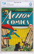 Golden Age (1938-1955):Superhero, Action Comics #34 (DC, 1941) CBCS FN/VF 7.0 Light tan to off-white pages....