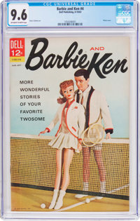 Barbie and Ken #4 (Dell, 1963) CGC NM+ 9.6 Off-white to white pages