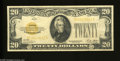 Small Size:Gold Certificates, Fr. 2402 $20 1928 Gold Certificate. Very Fine. This is a crisp $20 Gold that has turned a shade due to environmental factor...