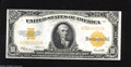 Large Size:Gold Certificates, Fr. 1173 $10 1922 Gold Certificate Extremely Fine. This is a beautiful $10 Gold that reveals four light folds after close sc...