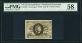 Fractional Currency:Second Issue, Fr. 1235 5¢ Second Issue PMG Choice About Unc 58.. ...