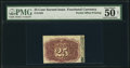 Fractional Currency:Second Issue, Fr. 1283 25¢ Second Issue PMG About Uncirculated 50 Net.. ...