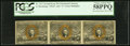 Fractional Currency:Second Issue, Fr. 1317 50¢ Second Issue Horizontal Strip of Three PCGS Choice About New 58PPQ. . ...