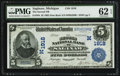 National Bank Notes:Michigan, Saginaw, MI - $5 1902 Date Back Fr. 594 The Second NB Ch. # (M)1918. ...