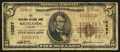 National Bank Notes:Virginia, Richlands, VA - $5 1929 Ty. 1 The Richlands NB Ch. # 10857. ...
