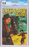 Golden Age (1938-1955):Western, Lash LaRue Western #1 Canadian Edition (Fawcett Publications, 1949) CGC VF/NM 9.0 Off-white to white pages....