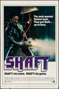 "Movie Posters:Blaxploitation, Shaft (MGM, 1971). One Sheet (27"" X 41"") & Lobby Cards (6) (11""X 14""). Blaxploitation.. ... (Total: 7 Items)"