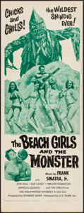 "Movie Posters:Horror, The Beach Girls and the Monster (U.S. Films Inc., 1965). Insert (14"" X 36""). Horror.. ..."