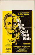 "Movie Posters:Horror, The Man Who Could Cheat Death & Other Lot (Paramount, 1959).Folded, Fine/Very Fine. Window Card (14"" X 22""), One Sheets (2)...(Total: 4 Items)"