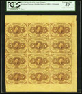 Fractional Currency:First Issue, Fr. 1230 5¢ First Issue Uncut Block of Twelve PMG Extremely Fine 40.. ...