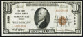 National Bank Notes:Oregon, McMinnville, OR - $10 1929 Ty. 1 The First NB Ch. # 3399. ...