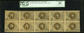 Fractional Currency:Second Issue, Fr. 1246 10¢ Second Issue Uncut Block of Ten PCGS Extremely Fine 40.. ...