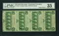 Fractional Currency:First Issue, Fr. 1312 50¢ First Issue Vertical Strip of Four PMG Choice VeryFine 35.. ...