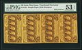 Fractional Currency:First Issue, Fr. 1281 25¢ First Issue Vertical Strip of Four PMG AboutUncirculated 53 EPQ.. ...