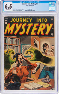Journey Into Mystery #1 (Marvel, 1952) CGC FN+ 6.5 Off-white pages