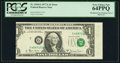 Error Notes:Miscellaneous Errors, Fr. 1910-G $1 1977A Federal Reserve Note. PCGS Very Choice New 64PPQ.. ...