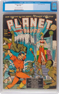 Golden Age (1938-1955):Science Fiction, Planet Comics #10 (Fiction House, 1941) CGC VG+ 4.5 Light tan tooff-white pages....