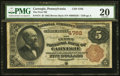 National Bank Notes:Pennsylvania, Carnegie, PA - $5 1882 Brown Back Fr. 474 The First NB Ch. # 4762....