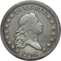 Early Half Dollars, 1795 50C 2 Leaves, O-104, T-24, R.4, -- Damage -- PCGS Genuine.Fine Details.. From The Loma Linda Collection. ...