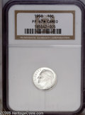 "Proof Roosevelt Dimes: , 1950 10C PR 67 "" S"" Cameo NGC...."