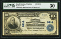 National Bank Notes:Virginia, South Boston, VA - $10 1902 Plain Back Fr. 626 The Boston NB Ch. #8414. ...