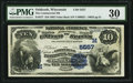 National Bank Notes:Wisconsin, Oshkosh, WI - $10 1882 Value Back Fr. 577 The Commercial NB Ch. # (M)5557. ...