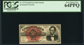 Fractional Currency:Fourth Issue, Fr. 1374 50¢ Fourth Issue Lincoln PCGS Very Choice New 64PPQ.. ...