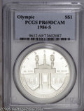 Modern Issues: , 1984-S $1 Olympic Silver Dollar PR 59 Deep Cameo PCGS. ...