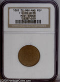 Errors: , 1865 2C error Two Cent Piece--Filled Dies--NGC (MS60 Brown). Fancy5. Although NGC does not venture a grade for this mint e...