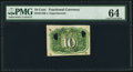 Fractional Currency:Second Issue, Milton 2E10R.4 10¢ Second Issue Experimental PMG Choice Uncirculated 64.. ...