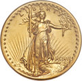 High Relief Double Eagles, 1907 $20 High Relief, Flat Rim, MS61 NGC....