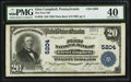 National Bank Notes:Pennsylvania, Glen Campbell, PA - $20 1902 Plain Back Fr. 658 The First NB Ch. #5204. ...