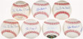 """Autographs:Baseballs, Stan Musial Single Signed Baseballs Lot of 7 - Includes Three With""""The Man"""" Inscription...."""