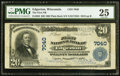 National Bank Notes:Wisconsin, Edgerton, WI - $20 1902 Plain Back Fr. 650 The First NB Ch. # 7040. ...