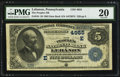 National Bank Notes:Pennsylvania, Lebanon, PA - $5 1882 Date Back Fr. 534 The Peoples NB Ch. #(E)4955. ...