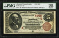 National Bank Notes:Pennsylvania, Lebanon, PA - $5 1882 Brown Back Fr. 474 The Peoples NB Ch. # (E)4955. ...