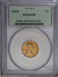 Lincoln Cents: , 1929 1C MS66 Red PCGS. Pop: (P 279/28, N 181/37). Mintage:185,262,000. Numismedia Wsl. Price: $265....
