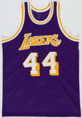 Autographs:Jerseys, Jerry West Signed Los Angeles Lakers Jersey. ...