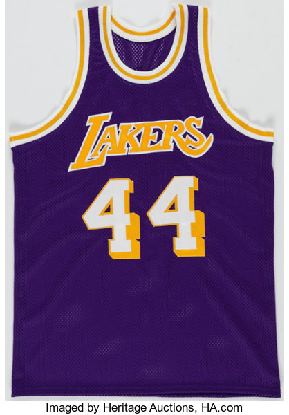 c8b34e31b Jerry West Signed Los Angeles Lakers Jersey. ... Autographs Jerseys ...
