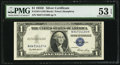 Fr. 1614 $1 1935E Silver Certificate. PMG About Uncirculated 53 EPQ