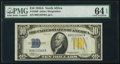 Small Size:World War II Emergency Notes, Fr. 2309 $10 1934A North Africa Silver Certificate. PMG ChoiceUncirculated 64 EPQ.. ...