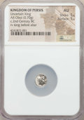 Ancients:Greek, Ancients: PERSIS KINGDOM. Uncertain king. Ca. 2nd century BC. ARobol (0.70 gm). NGC AU 5/5 - 5/5....