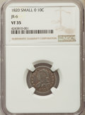 Bust Dimes, 1820 10C Small 0 VF35 NGC. JR-6. PCGS Population: (12/61)....