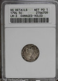 Early Half Dimes: , 1794 H10C--Damaged, Holed--ANACS, VG Details, Net Poor 1. LM-3....